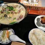 池袋西口一番街で39円串串鍋の人気ランチは牛肉鍋と黒蜜ゼリー